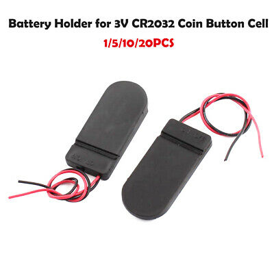 5x DIY CR2032 3V Button Coin Cell Battery Holder Case Box With On-Off Switch  Sj