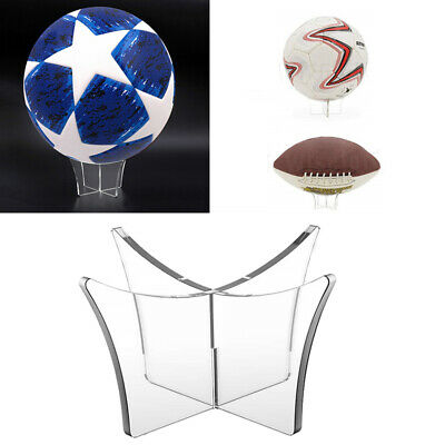 Acrylic Ball Display Stand Holder Riser Basketball Football Rugby Soccer