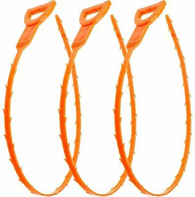 3 Pack Drain Snake Hair Drain Clog Remover Cleaning Tool, 23.6 Inch