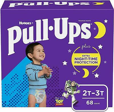 68 Ct Pull-Ups Night-Time Potty Training Pants for Boys, 2T-3T (18-34 lb.)