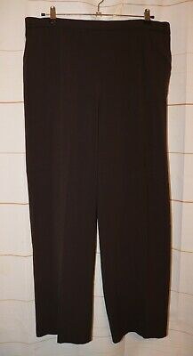 Womens Dark Brown Briggs New York Flat Front Dress Pants Size 20W excellent