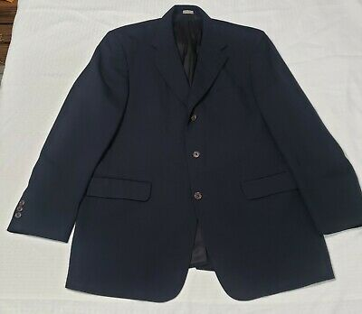 Brooks Brothers 346 navy Wool 3-Button front + sleeve Suit jacket sport coat 41
