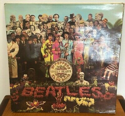 THE BEATLES SGT. PEPPER'S 1st Press WIDE Parlophone Mono UK LP 1967 PMC 7027