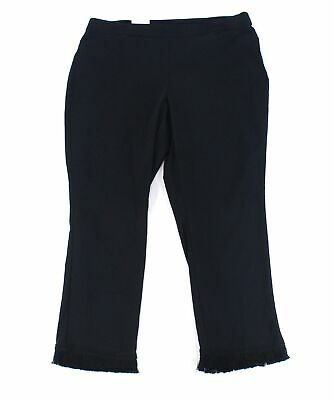 Style & Co. Women's Black Size 18W Plus Fringed Hem Dress Pants Stretch $56 #103