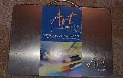 WHSmith Art Studio 25 Watercolour & 25 Colouring Pencil Set Suitable for 3+Years