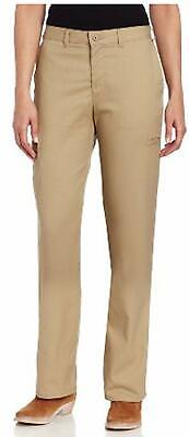 Dickies Women's Pants Beige Size 24X30 Flat Front Khakis Chinos $45- #361