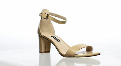 Nine West Womens Pruce Beige Ankle Strap Heels Size 6.5 (751582)