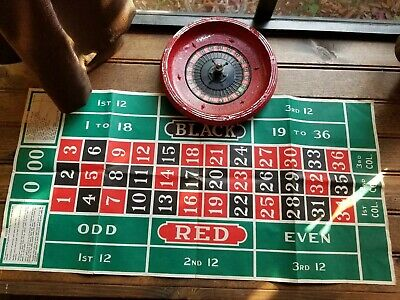 Vintage Roulette Table Top Casino Type Board Game