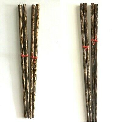 2x9.9inch Wooden Chopsticks,Made of Solid Wood,Safe,Organic Tools,Antique Crafts