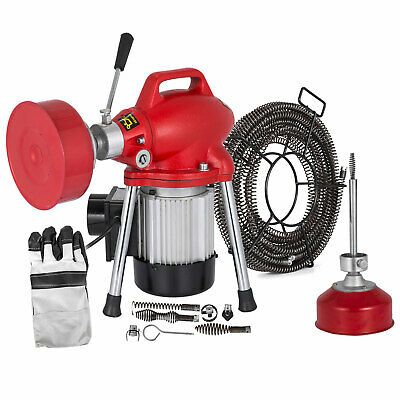 Sectional Drain Cleaning Machine 250W Drain Cleaner 12.5mx16mm Spring Cable