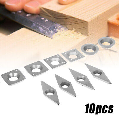 Carbide Inserts Woodworking Cutting Bit Turning Tool Accessories Silver