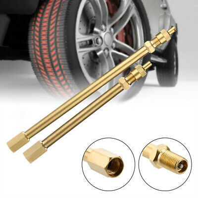 Tyre Valve Stem Extension Rod Copper Truck Lorry TWIN WHEEL 100mm