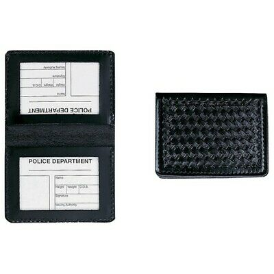 Aker Leather A596-BW Slim Double ID Case - Basketweave