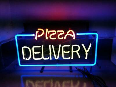 PIZZA DELIVERY Sign Shop Beer Pub Bar Store Party Gift Handmade Neon Sign Light