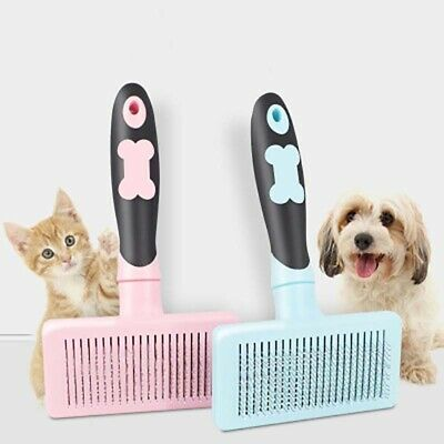Durable Pet Hair Removal Comb Dog Cat Grooming Self Cleaning Brush Shedding Tool