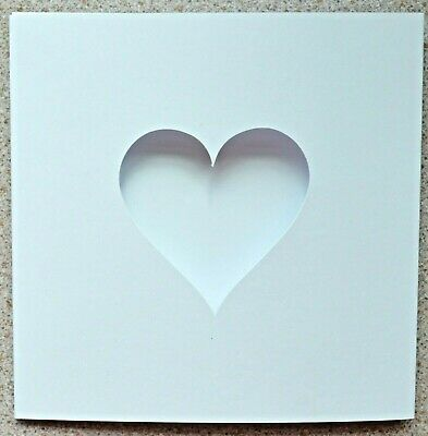 5 Double fold card Blanks 148mm x 105mm Large Heart Apertures 4 Colours New