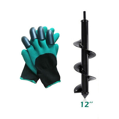 Auger Drill Bits Bulb Planter Hand-Held Outdoor Equipment Parts Gloves
