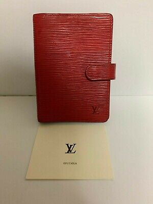 Authentic Louis Vuitton Epi agenda Red Notebook cover Wallet Red coin Limited