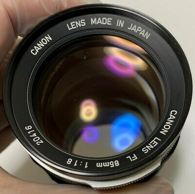 Tested Rare Canon FL 85mm F/1.8 Manual Focus Portrait Lens from Japan 20416