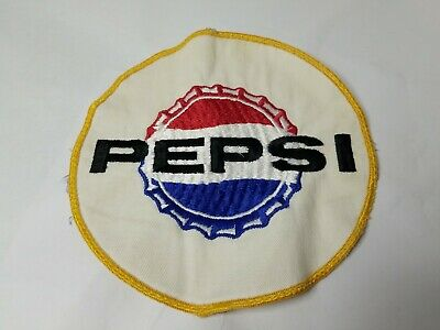 "Nice & Clean Vintage PEPSI COLA Large 6.5"" Round Cloth Soda Pop Patch."