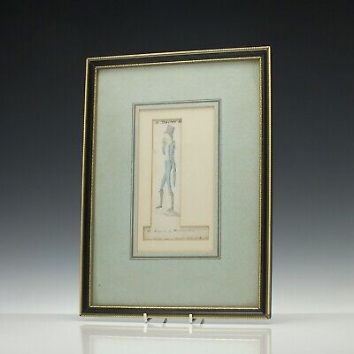 Three Antique 19th Century Napoleonic War Era Watercolours c1810