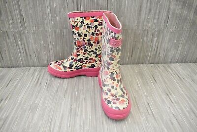 Joules Girls Welly Rain Boot - Little Girl's Size 13, Pink