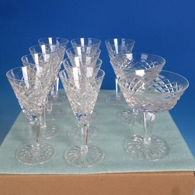 Waterford Crystal - Tyrone - 9 Sherry Wine, 2 Champagne Glasses