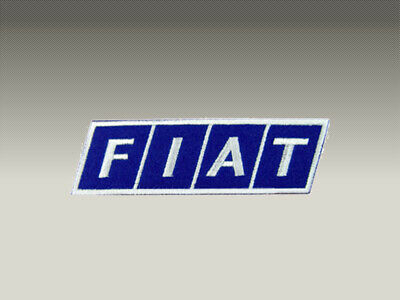2 Patch Toppe Fiat Ricamate Termoadesive 9X3 Cm