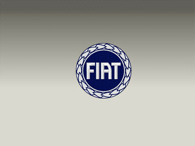 2 Patch Toppe Fiat Ricamate Termoadesive 7X7 Cm