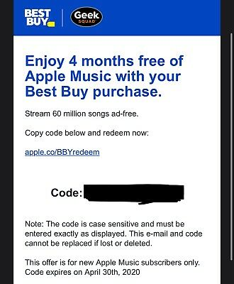 Apple Music 4 Month Subscription (Buy BEFORE April 30th)