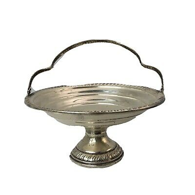 Vintage Sterling Silver Footed Candy/Nut/Compote Pierced With Handle
