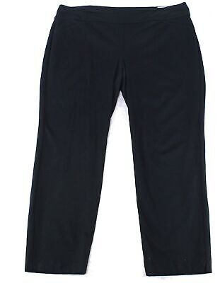 Charter Club Women's Black Size 22W Plus Pull On Slimming Pants Stretch $69 #293