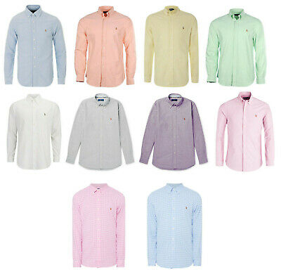 Polo Ralph Lauren Men's Long Sleeve Oxford Shirt, Variety Colors ALL SIZES