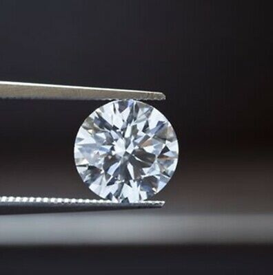 1.0Ct Round Cut Cubic Zirconia Lab Crated  for Ring, Earring & jewellery