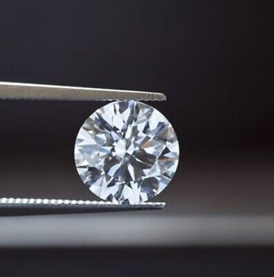 1.10 Ct Round Cut White Cubic Zirconia Lab Crated for Ring Jewellery