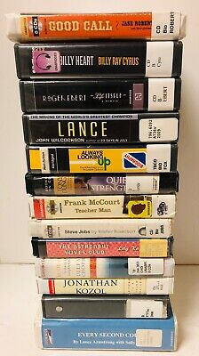 Audio Books On CD Biography Lot - Celebrities - Lot of 13 - Former Library