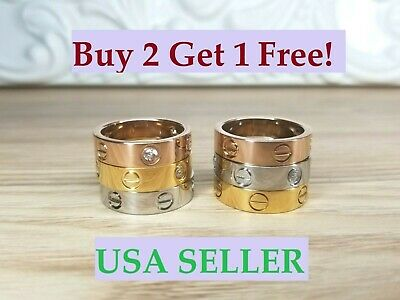 Love Band Ring Screw For Women And Men Perfect High Quality *Buy 2 Get 1 FREE*