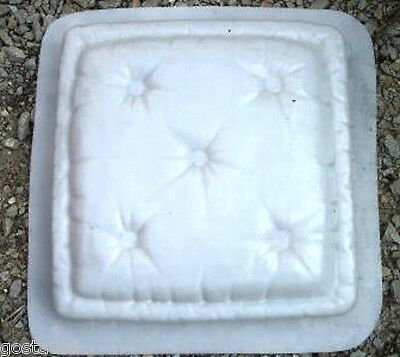 """Pillow stepping stone mold plaster concrete resin 12.5"""" x 12.5"""" x 2"""""""