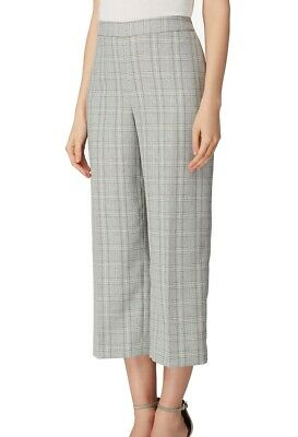 Tahari by ASL Women's Pants Gray Size 2 Dress Plaid Career Crop $89 #427