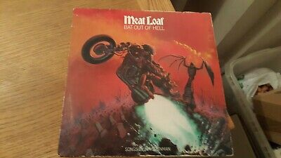 MEAT LOAF - BAT OUT OF HELL 1977 Vinyl LP RECORD ALBUM + LYRIC SHEETS
