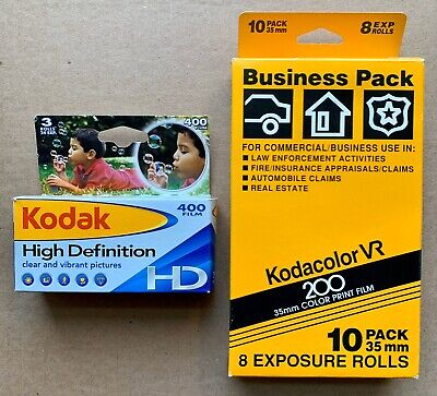 LOT 13 Rolls Kodacolor VR 200 Kodak High Definition HD 400 - New Expired