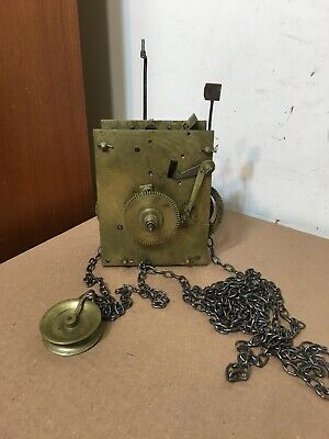 Antique 30 Hour English Grandfather Or Tallcase Clock Movement