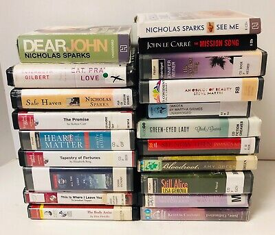 Audio Books On CD Women's Fiction Drama Love Lust Lot of 20 ~ Former Library