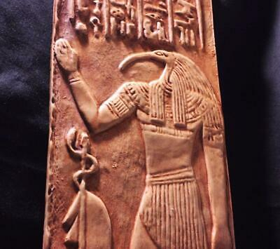 EGYPTIAN GOD THOTH Grand Scribe & Master of Magic - large wall relief