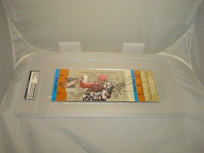 Helio Castroneves Signed Indianapolis Indy 500 Ticket Encapsulate PSA/DNA COA 1B