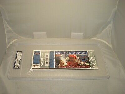 Helio Castroneves Signed Indianapolis Indy 500 Ticket Encapsulate PSA/DNA COA 1C