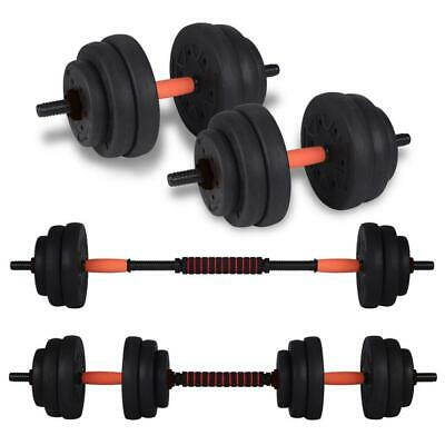 20kg Adjustable Dumbbell Barbell Set Weight Lifting Fitness Training Home New