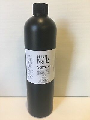 PURE ACETONE 100% - 500ml SOAK OFF REMOVER for SNS, gels, acrylics AUS SELLER