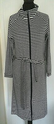 Ladies Soft Touch Navy & White Nighty Night Dress With Belt Bnwt Size 6-8 Gift