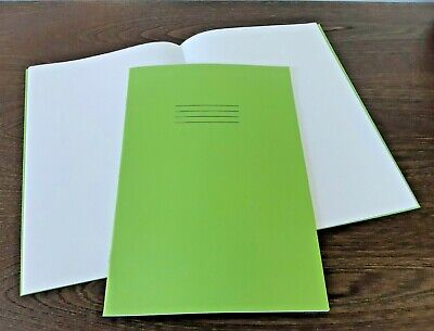4 New Rhino A4 Plain School Exercise Kids Drawing Books 64 Pages Green Cover